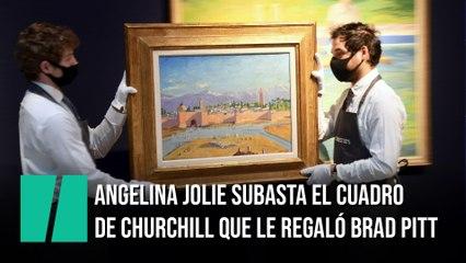 Angelina Jolie subasta el cuadro de Churchill que le regaló Brad Pitt
