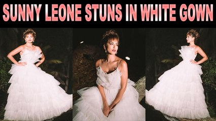 Sunny Leone dolls up in white gown