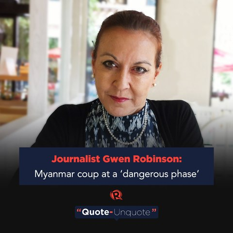 Journalist Gwen Robinson: Myanmar coup at a 'dangerous phase'