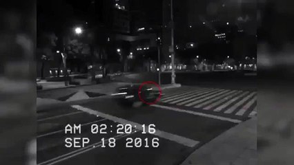 CCTV camera recorded the ghost girl ... Car collided with the shock passed! ...