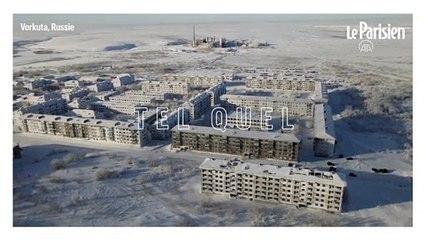 Russie: une ville fantôme pétrifiée par la neige