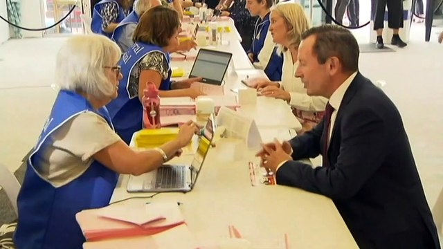 WA Premier Mark McGowan casts early vote in state election