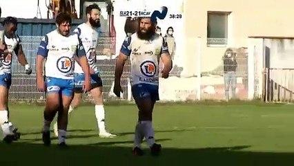 Nationale Rugby. Aubenas crucifie Blagnac en fin de match
