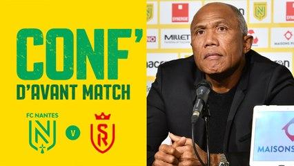 Replay : Antoine Kombouaré en conférence de presse avant FC Nantes - Stade de Reims