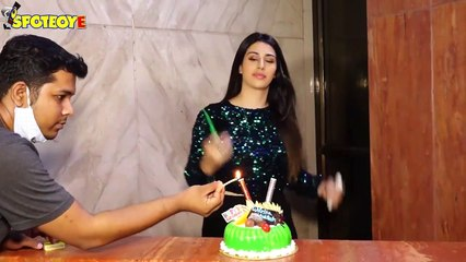Warina Hussain celebrates her birthday with the media