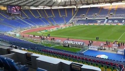 Lazio - Torino, stadio deserto