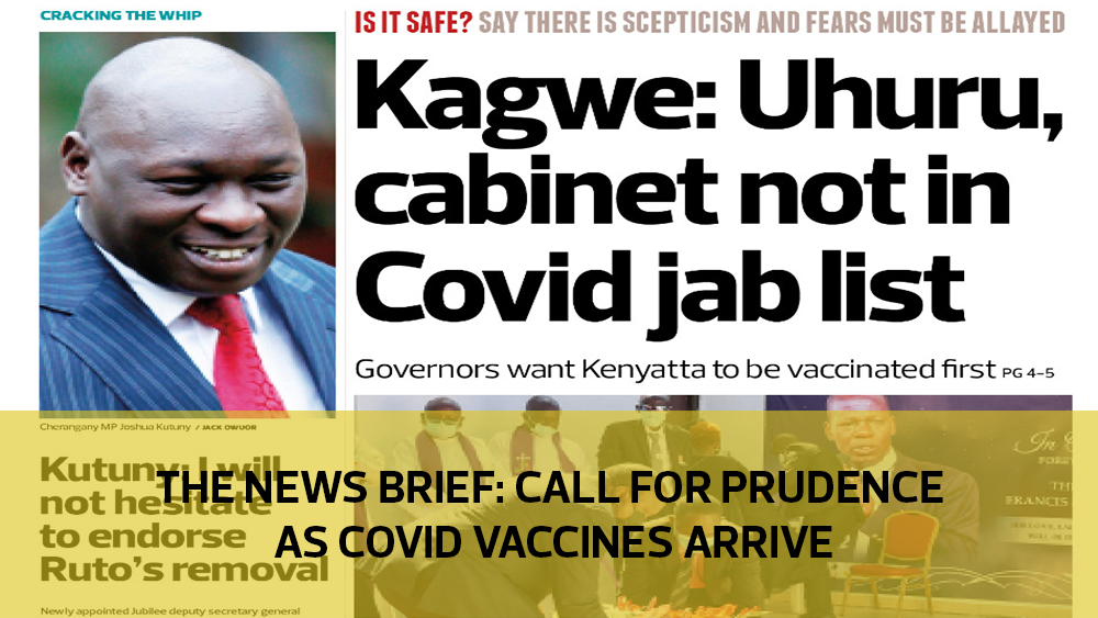 The News Brief: Call for prudence as Covid-19 vaccines arrive