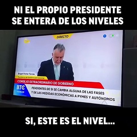 """Presidente socialista de Canarias: """"No he dicho dos en ningún momento"""""""