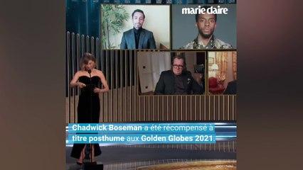 Taylor Simone Ledward, la veuve de Chadwick Boseman, fait pleurer les Golden Globes