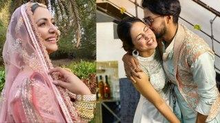 Hina Khan ने दुल्हन की तरह फ्लॉन्ट किया अपना Pink Lehnga, क्या जल्द होने वाली है शादी? |FilmiBeat