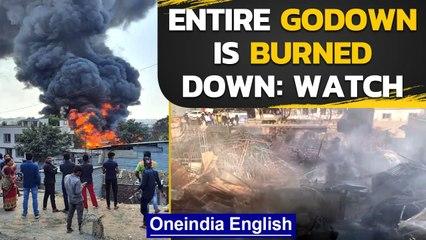 Pune: Massive Fire breaks out in a godown in Bibwewadi area | Oneindia News
