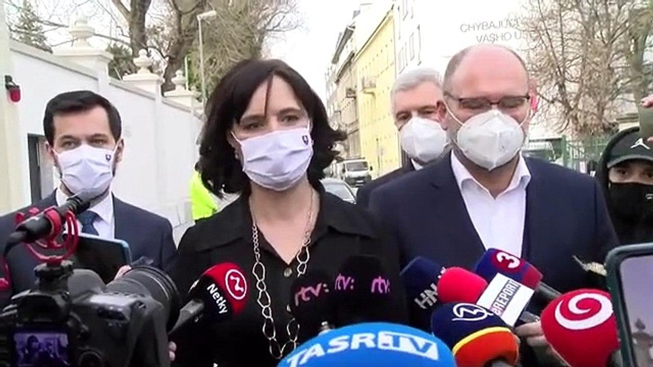 ZÁZNAM: Brífing po stretnutí predstaviteľov strany SaS a Za ľudí s prezidentkou Z. Čaputovou