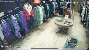 Η στιγμή του σεισμού των 6 Ρίχτερ σε μαγαζί ρούχων στη Λάρισα