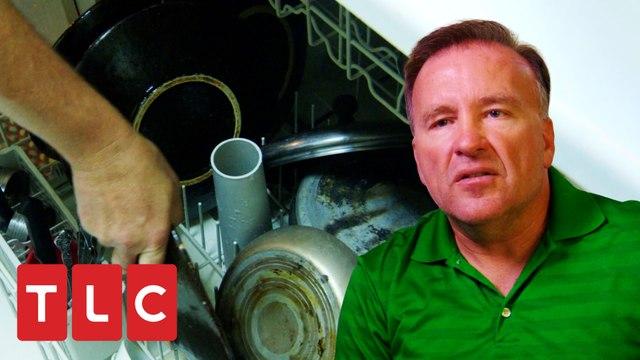 Lava sus platos en casa de los vecinos y ahorra 30 dólares   Tacaños Extremos   TLC Latinoamérica