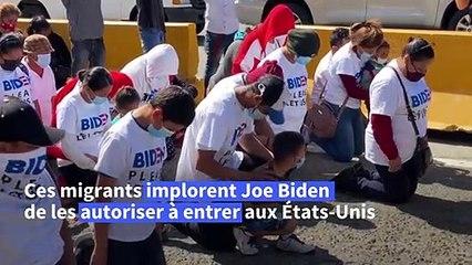 """Mexique: """"laissez-nous entrer"""" demandent des migrants à Joe Biden"""