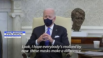 Biden calls Texas decision to end mask mandate 'Neanderthal thinking'