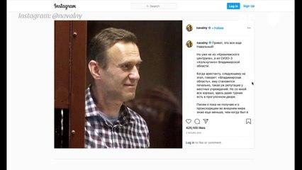 """Opositor ruso Navalni dice que está """"bien"""" en un mensaje desde la cárcel"""