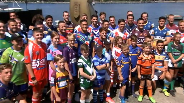Players from all 16 NRL clubs launch season in Sydney