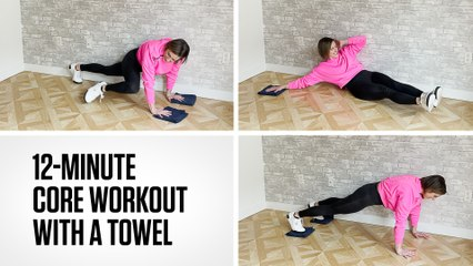 12-Minute Core Workout With a Towel