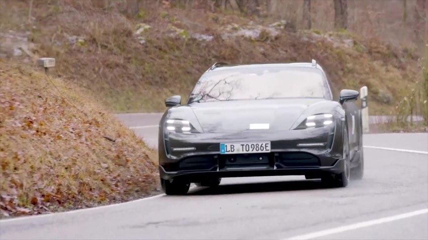 Porsche Taycan Cross Turismo hits the road