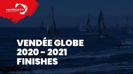 Live Finish + Ascent of the channel + Press conference Ari Huusela Vendée Globe 2020-2021 [EN] (29)