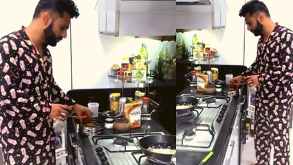 Rahul Vaidya ने बनाया अपने लेडी लव Disha Parmar के लिए खाना; देखिए वीडियो | FilmiBeat