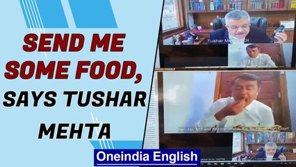 SGI Tushar Mehta asks for food in court | Funny video goes viral | Oneindia News
