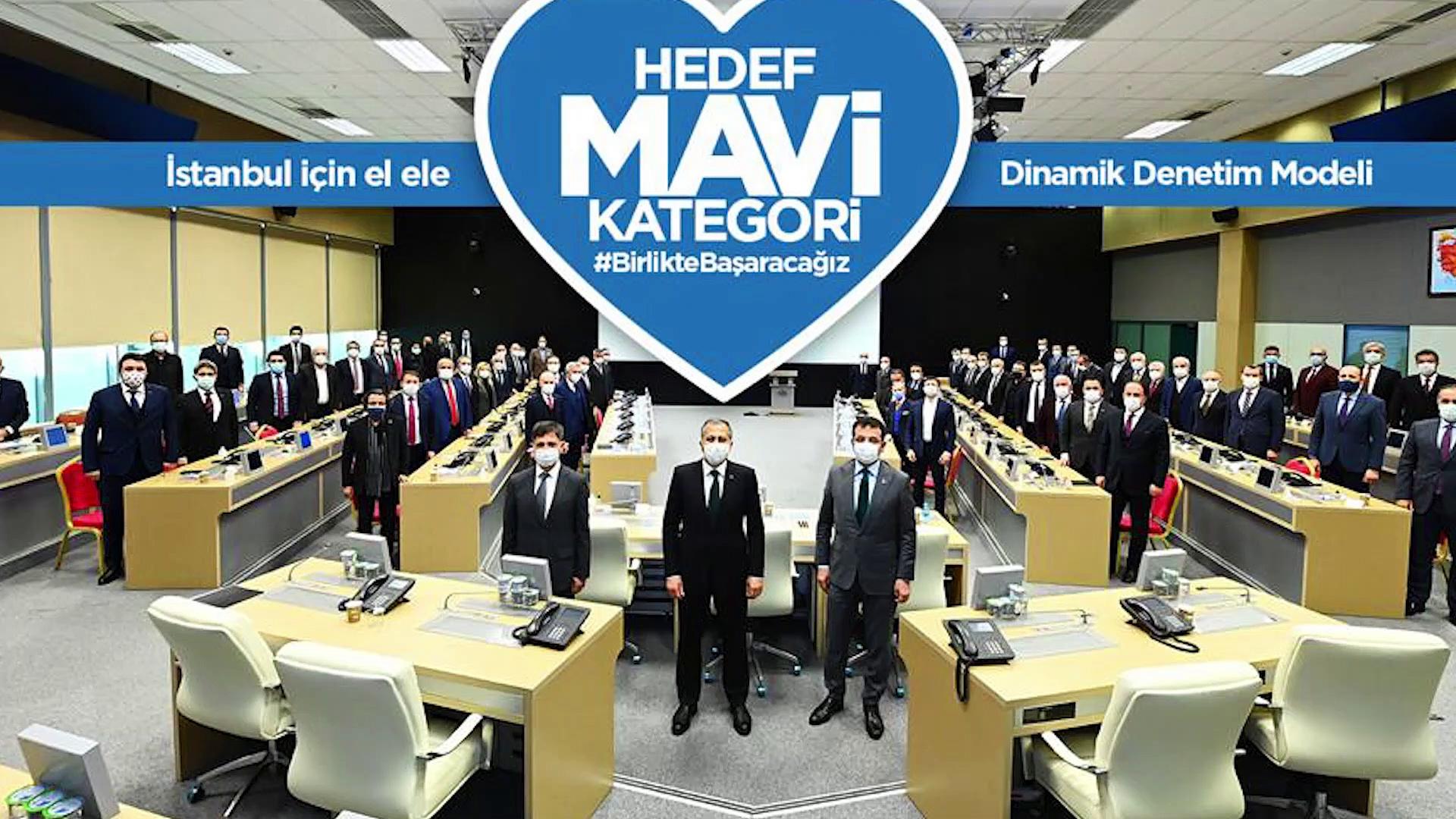 İstanbul'da salgınla mücadele için 'Dinamik Denetim Modeli': Hedef mavi kategori
