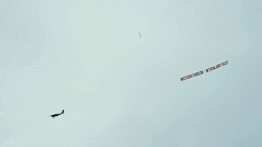 Resign Sturgeon banner flies over Edinburgh