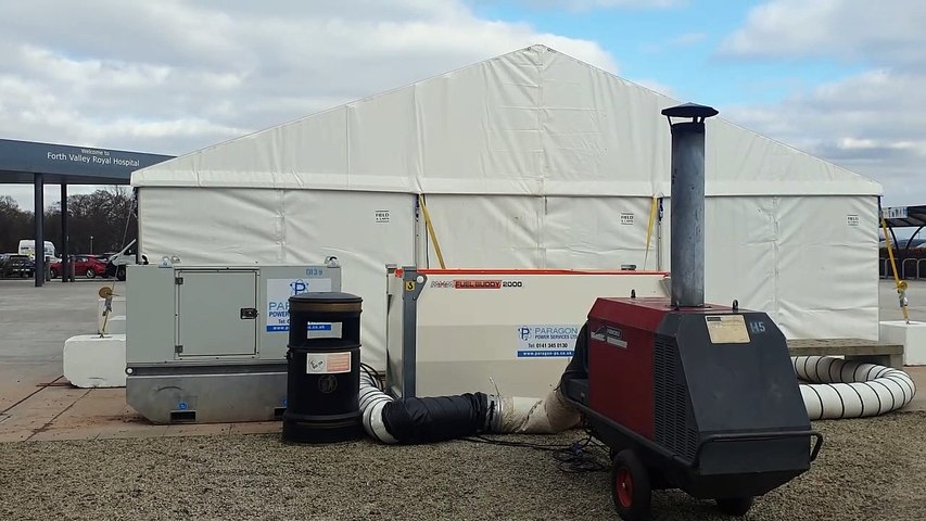 Forth Valley Royal Hospital new marquees for staff