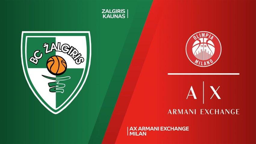 Zalgiris Kaunas - AX Armani Exchange Milan Highlights | Turkish Airlines EuroLeague, RS Round 28