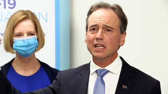Health Minister receives AstraZeneca jab in Melbourne