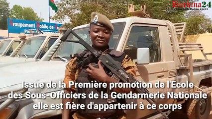 "Adjudant Aline Kaboré : ""J'a eu le béret de mes rêves"""