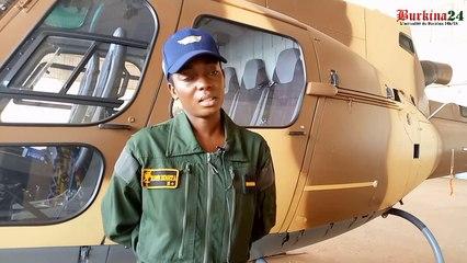 Le sous-lieutenant Bineta Koné, reine des airs