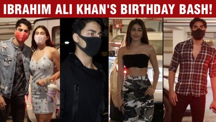 Aryan Khan, Alaya F, Ahaan Shetty With GF Arrive At Ibrahim Ali Khan's Birthday Bash