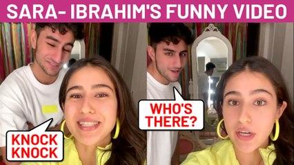 Sara Ali Khan's Latest Knock Knock FUNNY Video With Ibrahim Ali Khan On His Birthday