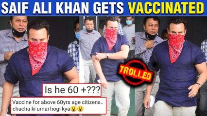 Saif Ali Khan Gets Brutally Trolled For Taking Covid 19 Vaccine