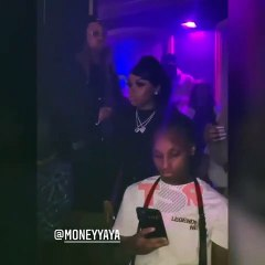 """Yaya Mayweather was in the club, watching Jania turn up to Lil Durk and Pooh Shiesty, after dissing """"Back In Blood,"""" and fans said she was on the phone calling Kentrell (NBA Youngboy), the DJ, and security"""