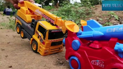 Playing Outside In The Mud  Excavator  Dump truck  Ironman  Cleaning Car Toys