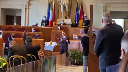 Lazio, Immobile premiato in Campidoglio con la Scarpa d'Oro