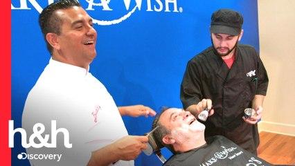 Buddy y Ralph le quitan el bigote a Danny por una buena causa | Cake Boss | Discovery H&H