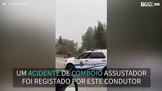 Motorista regista acidente de comboio no Canadá 1