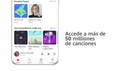 Conoce las funciones de Huawei Music