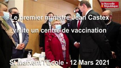 VIDEO. St Maixent l'Ecole: Le premier ministre Jean Castex visite un centre de vaccination