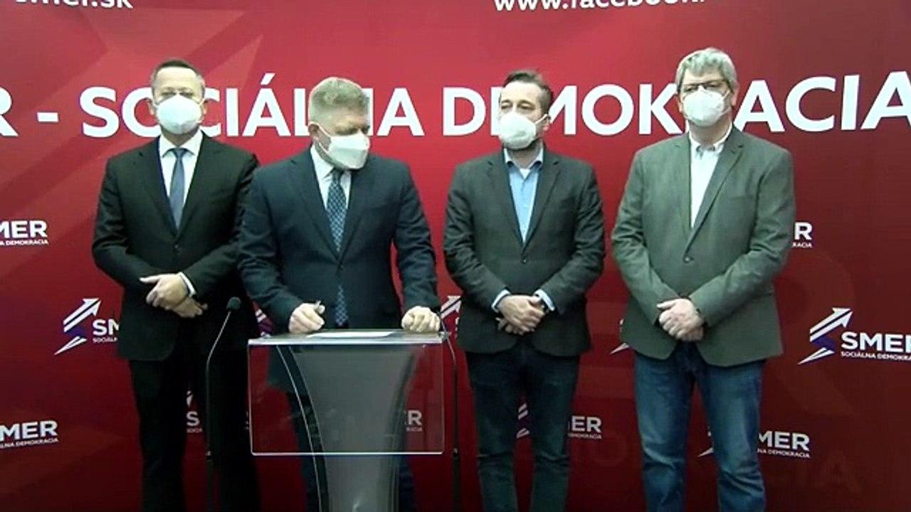 ZÁZNAM: TK predstaviteľov strany Smer – SD