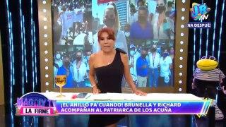 """César Acuña sobre posible boda entre su hijo y Brunella Horna: """"Lo importante es que se aman"""""""