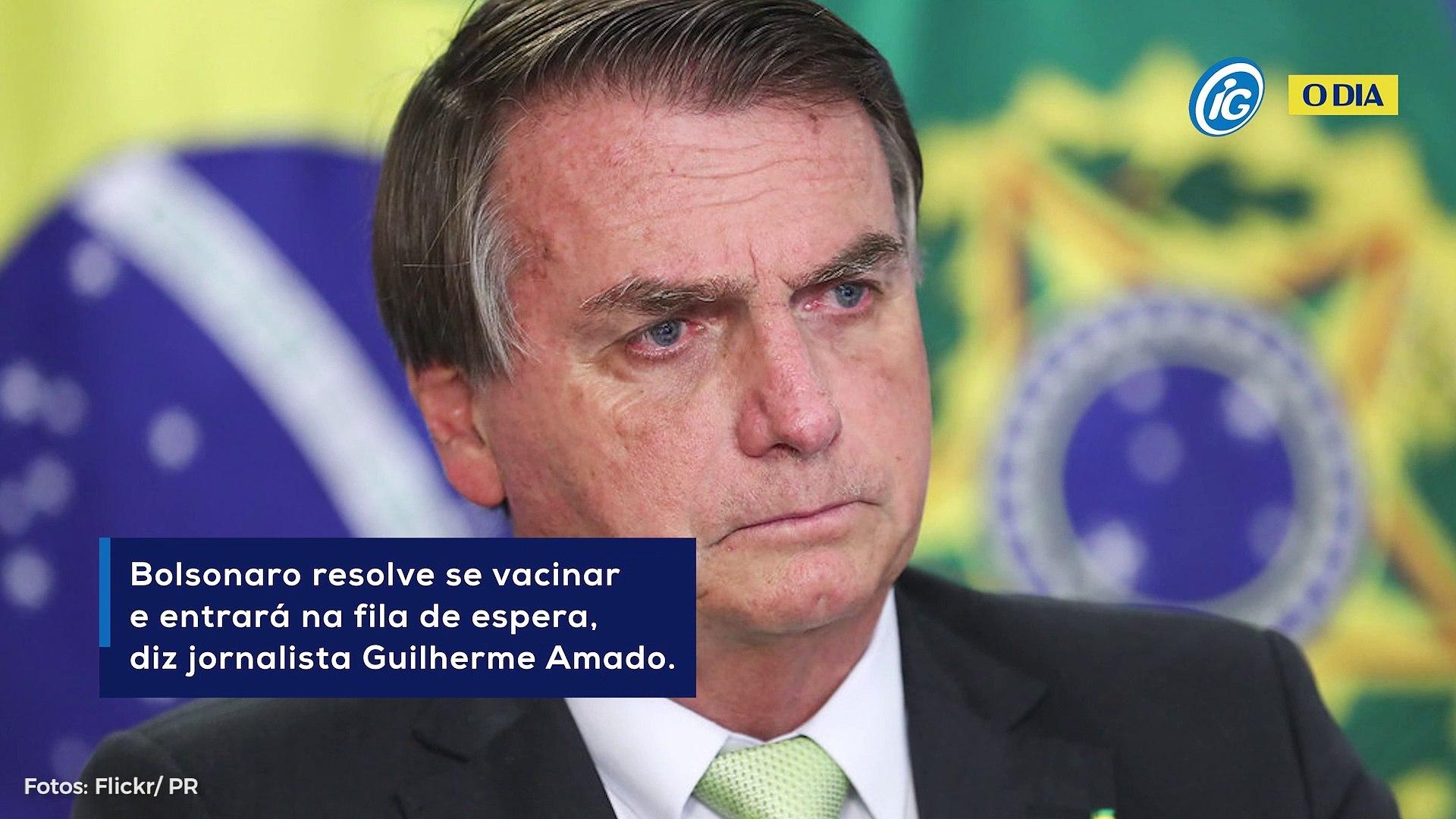 Bolsonaro resolve se vacinar e entrará na fila de espera, diz jornalista