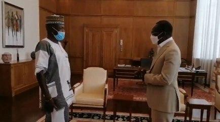 Colonel Pascal Tawès chez Patrice Talon a la présidence du Bénin