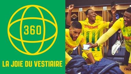 Vidéo 360° : la joie du vestiaire nantais à Paris