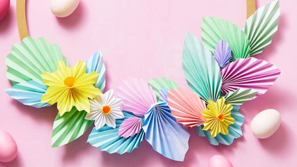 How To Make A Paper Floral Wreath